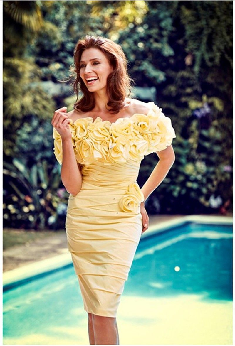 Yellow off the shoulder sheath cocktail dresses 2017 short tight cheap cocktail dresses buy quality sheath cocktail dresses directly from china robe de cocktail suppliers yellow off the shoulder sheath cocktail dresses ombrellifo Image collections