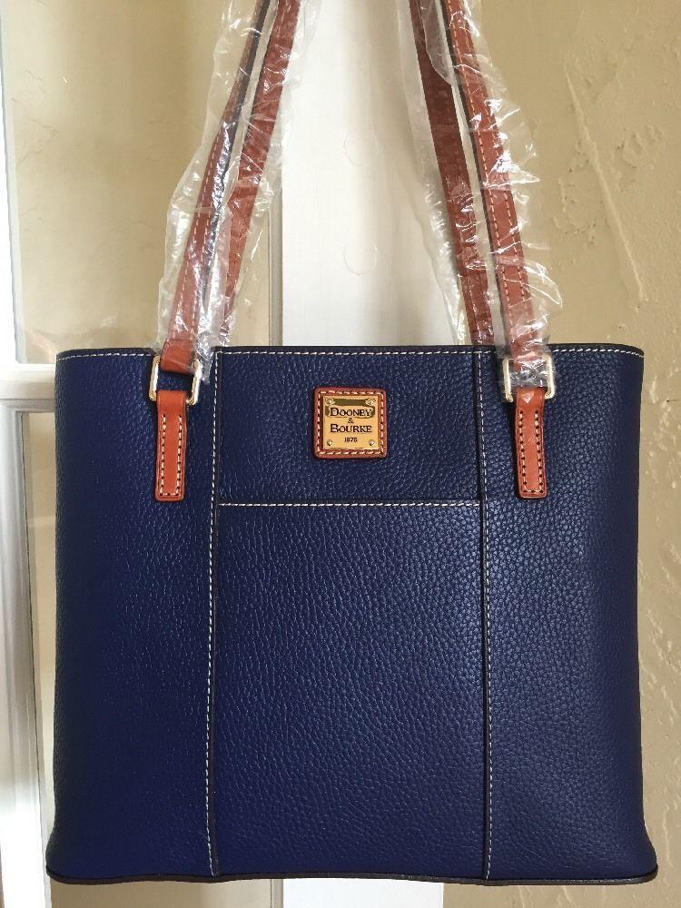 368abb9edf2d Dooney Bourke Small Lexington Shopper Tote Cobalt Blue Pebble Grain Leather
