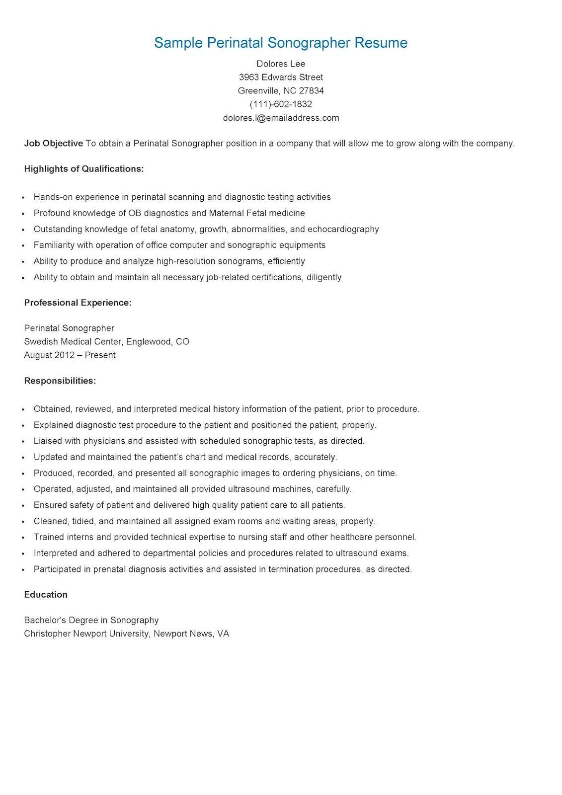 Real Estate Appraiser Resume Sample Perinatal Sonographer Resume  Horoscope 2016  Pinterest