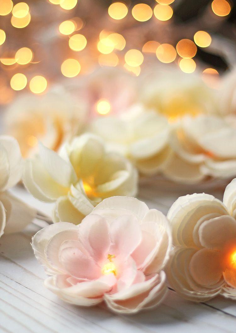 Diy Floral Garland With Lights Craftohnic Pinterest Diy