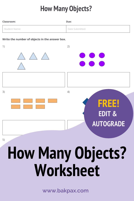 Free How Many Objects Elementary School Math Worksheet Elementary School Math Free Math Worksheets Math Worksheet [ 1500 x 1000 Pixel ]