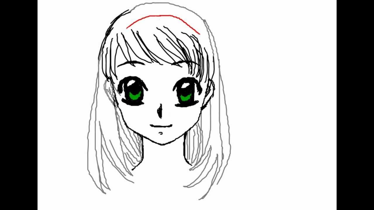 How to draw manga face female for beginners really