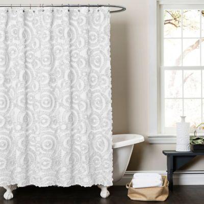 Lush Decor Keila 72 X 84 Shower Curtain In White Curtains