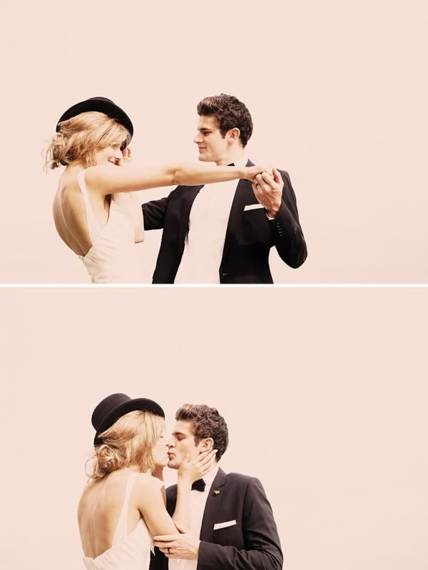 bride & groom with hat