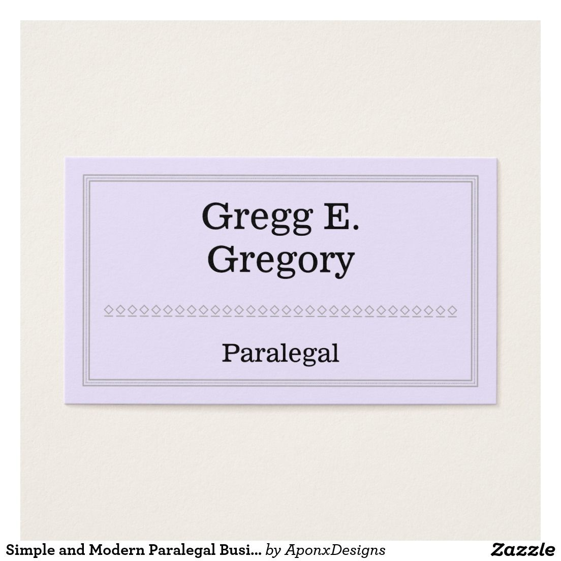 Simple and Modern Paralegal Business Card   Customizable Business ...