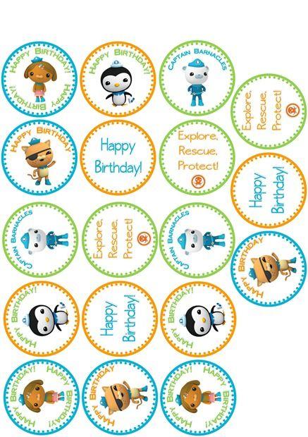 Cupcake Labels Printable | Octonauts Birthday Party Ideas | Pinterest