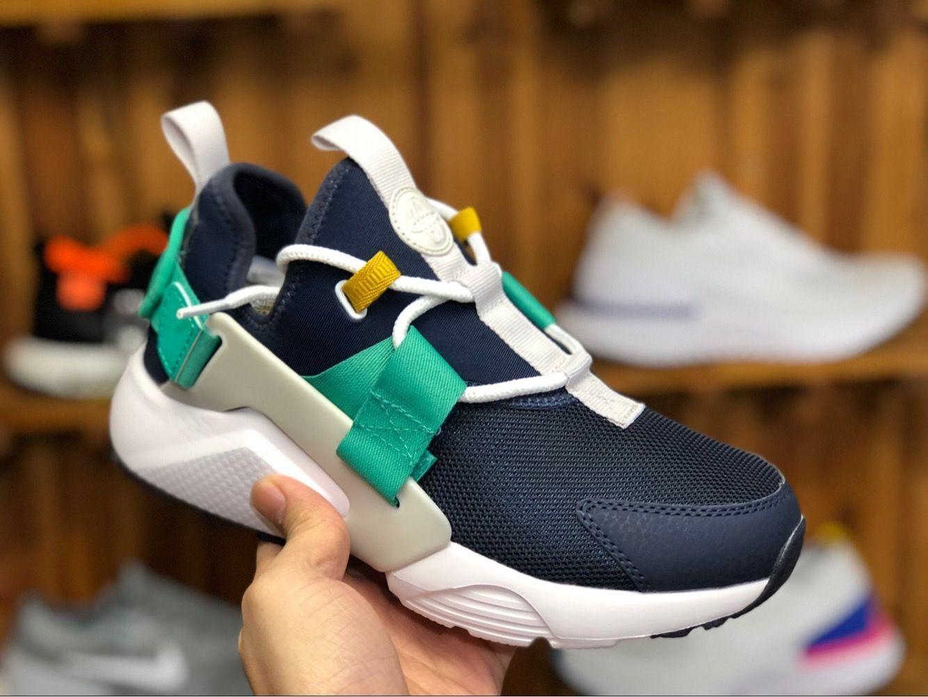 25c1f63a38140 68 Nike Air Huarache City Low Navy Mint Green Casual Sneaker | Cute ...