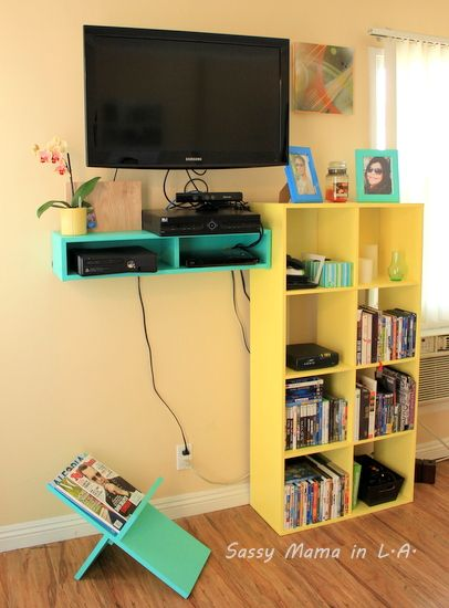 Simplify The Living Room With A Floating Electronics Shelf And Simple  Magazine Rack #buildit #