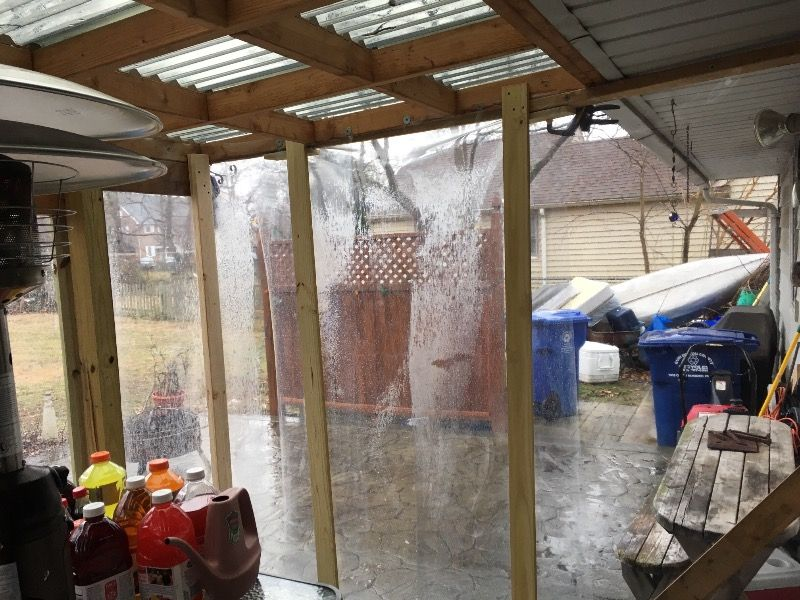 Clear Marine Vinyl Flexa Porch Enclosures Vinyl Panels Outdoor Curtains