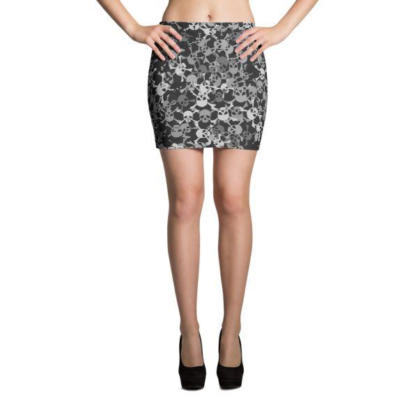 Redbel Skull Camo Mini Skirt