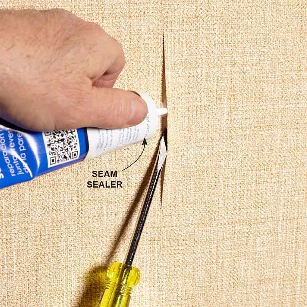 how to fix a dent in wallpaper