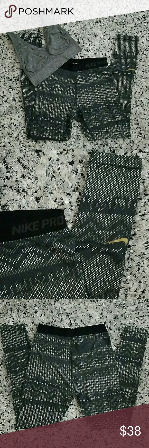 NIKE DRI-FIT LEGGING The Nike Dri-fit legging provides warmth while also wicking away sweat and odor! Good condition, minimal fading as seen in images. Need a new home because I have way too many leggings!  *PRICE IS FIRM UNLESS BUNDLED FOR THE BUNDLE DISCOUNT. Nike Pants Leggings