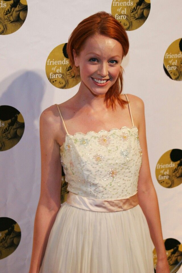Lindy Booth Lindy Booth Backless Dress Formal Natural Redhead