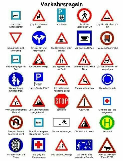 german traffic signs german traffic signs learn german german language learning german grammar. Black Bedroom Furniture Sets. Home Design Ideas