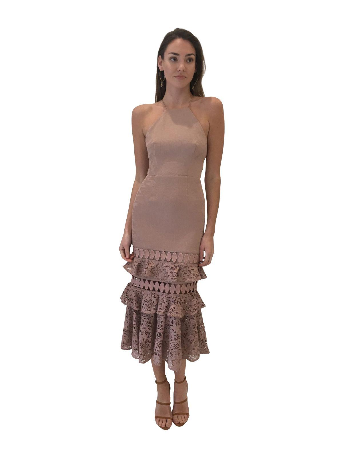 bef31b1840 Talulah Valencia Rose Halter Ruffle Midi Dress in Woodrose  Size  XS ...