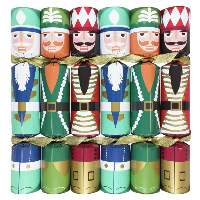 Nutcracker Christmas crackers pack of 6 Nutcracker