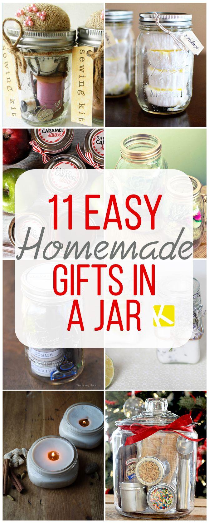 11 DIY Mason Jar Gift Ideas   Jar, Gift and Christmas gifts
