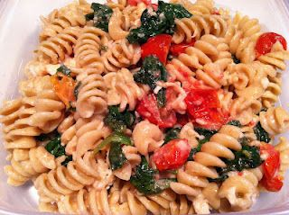 Wheat Rotini with Spinach and Romano Cheese