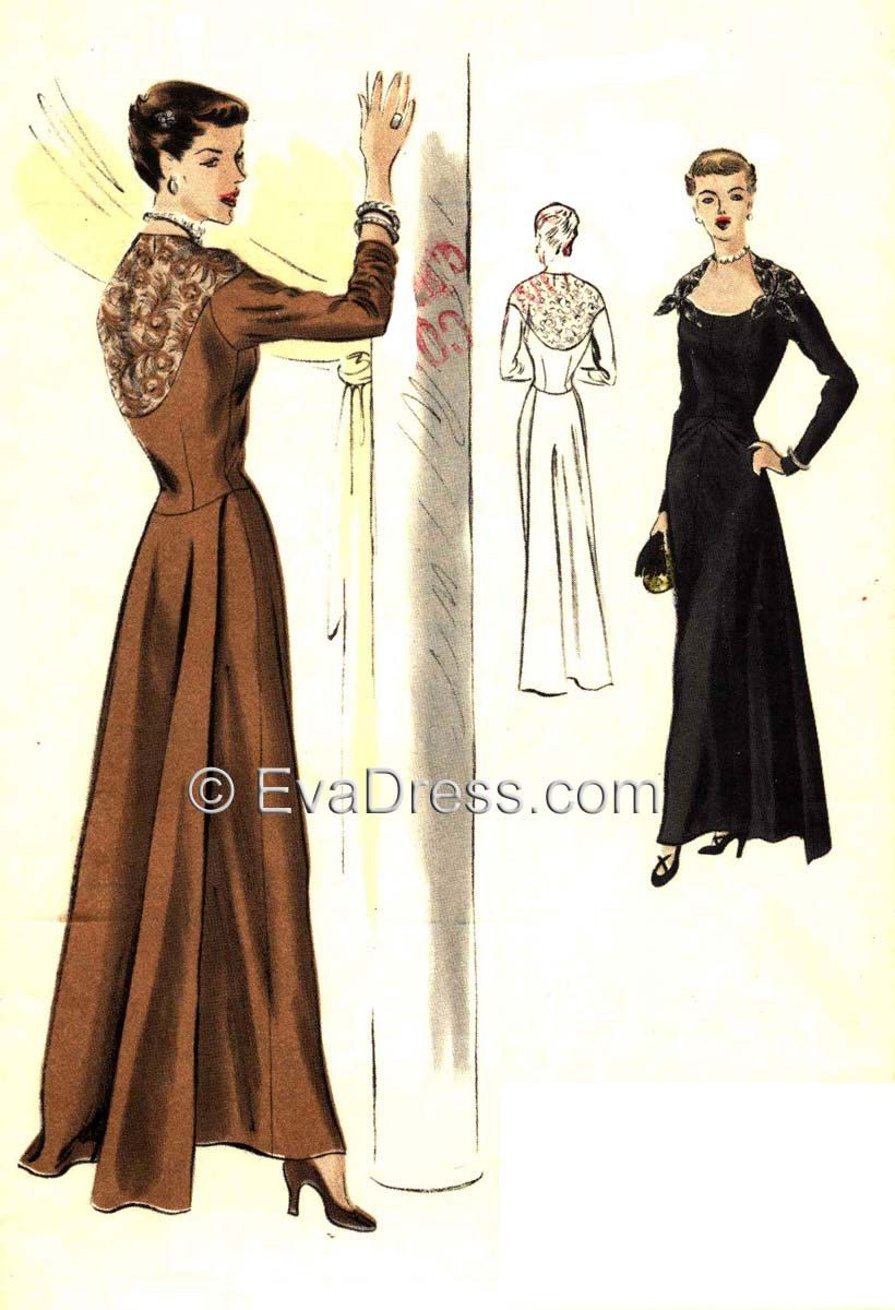 1949 Evening Gown EvaDress Pattern! by EvaDress on Etsy