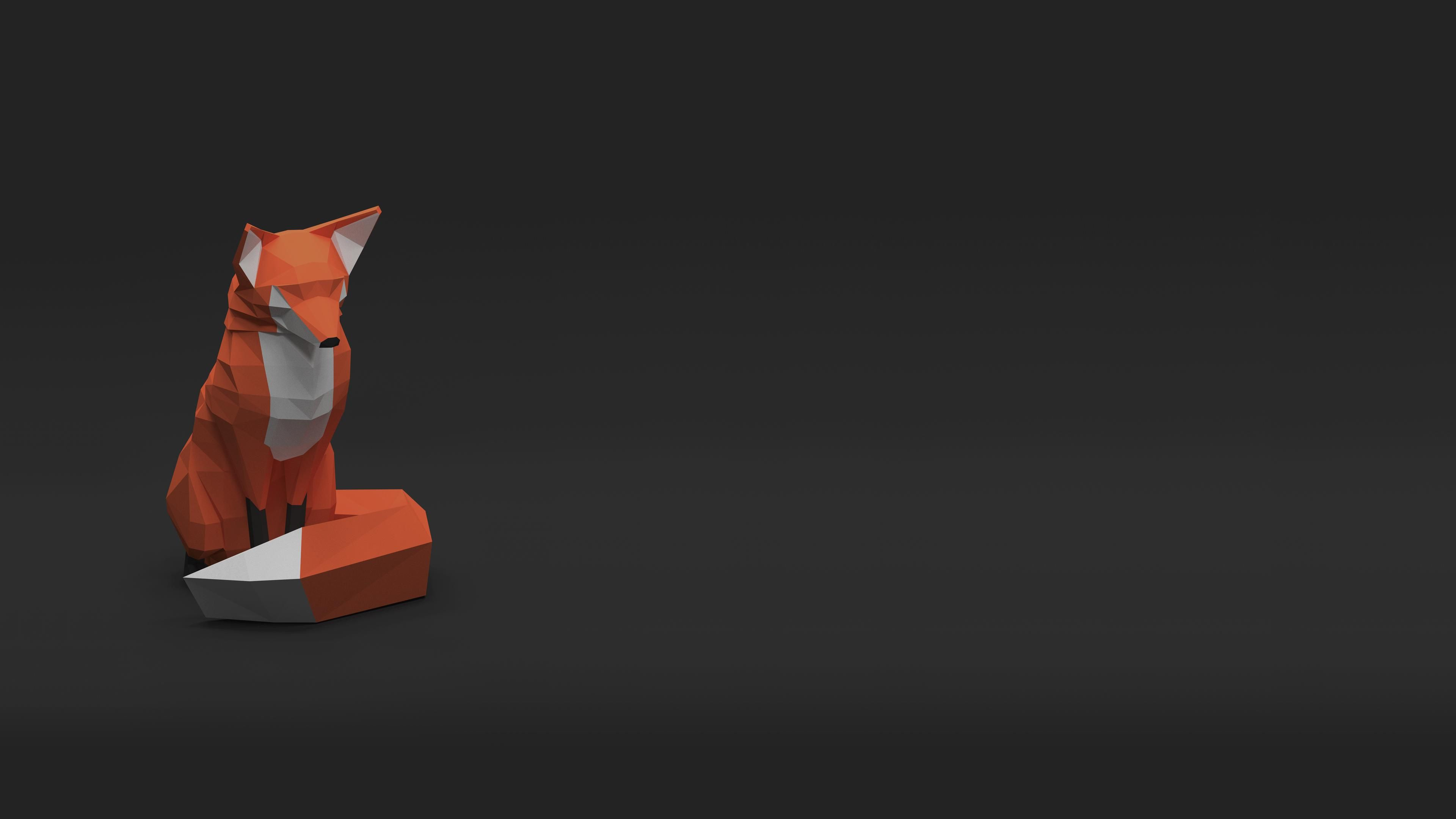 Low Poly Fox [38402160] Hdwallpaper wallpaper image