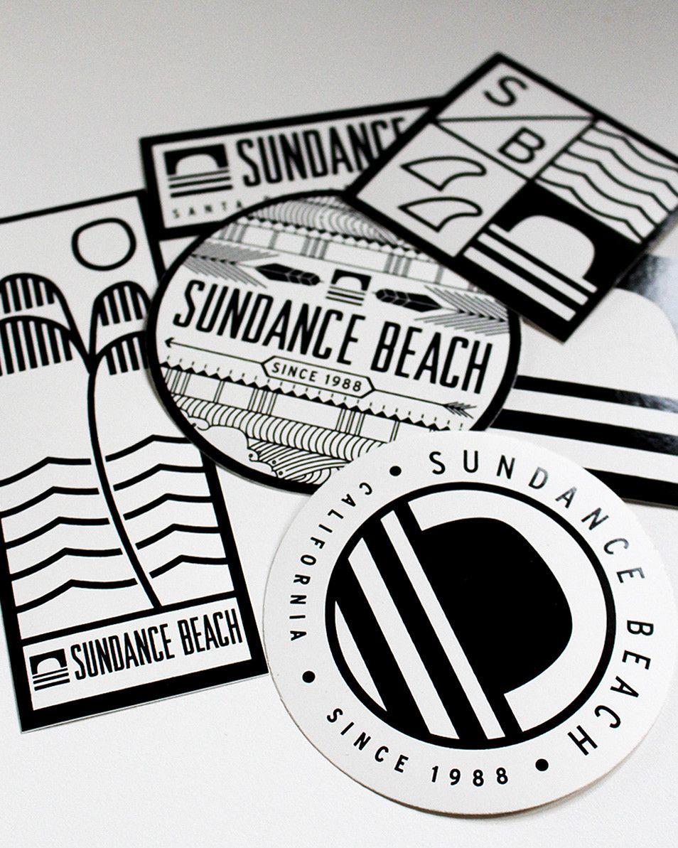 Sundance Beach Sticker Pack Sticker Design Brand Stickers Graphic Design Inspiration [ jpg ]
