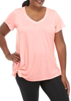 Photo of ZELOS Plus Size Knit V Neck Tee