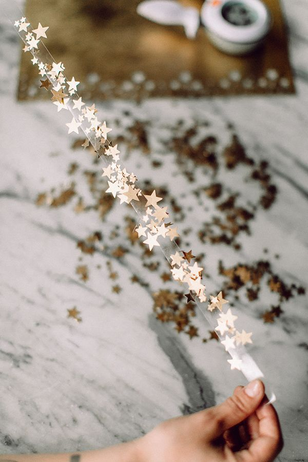 DIY Star Confetti Tape #homemadeskincare