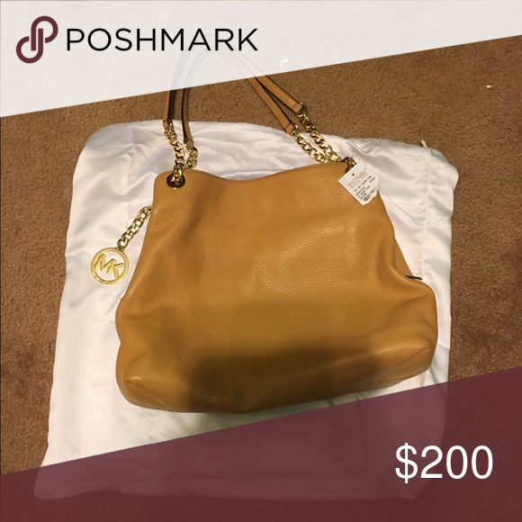 Authentic Michael Kors Purse Brand new will upload more pictures this evening.  Light brown not dark. Michael Kors Bags Shoulder Bags