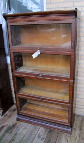 Antique Arts Crafts Barrister Bookcase G R M Mission Stickley Era
