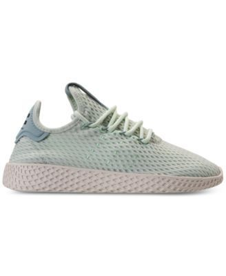67ae7fb28e0 adidas Boys  Originals Pharrell Williams Tennis Hu Casual Sneakers from Finish  Line - Green 6.5
