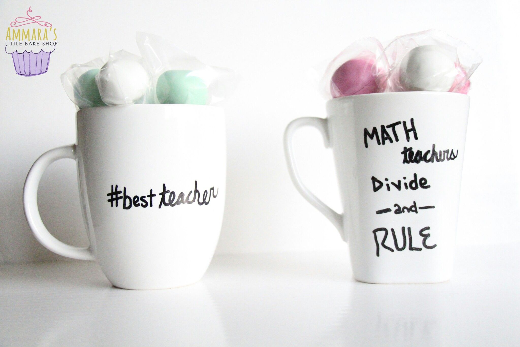 DIY mug with cake pops gift