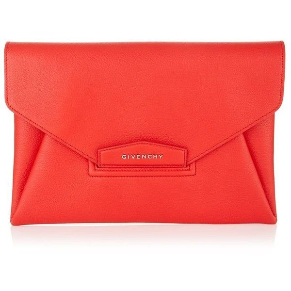 98122e37dd63 Givenchy Antigona Grain Envelope Clutch (£820) ❤ liked on Polyvore  featuring bags