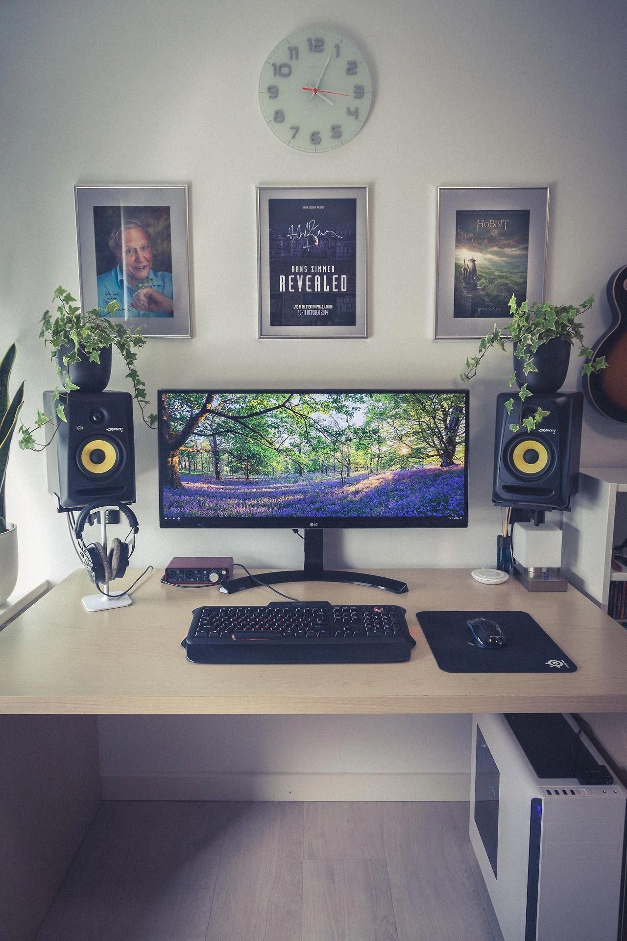 Awesome Desk Setup Interior Design Home Bedroom And