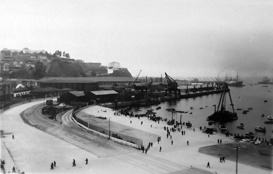 Panorámica del Puerto de Valparaíso en 1920