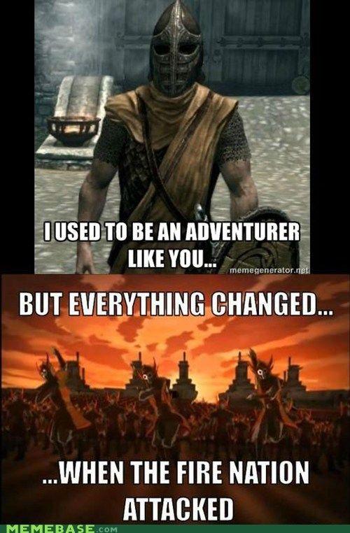 Funny Skyrim Meme With Avatar The Last Air Bender God I M So