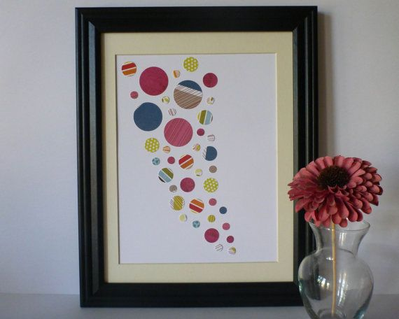 Circle Paper Wall Art  Colourful Palette 10 x 13 by 1981Collective