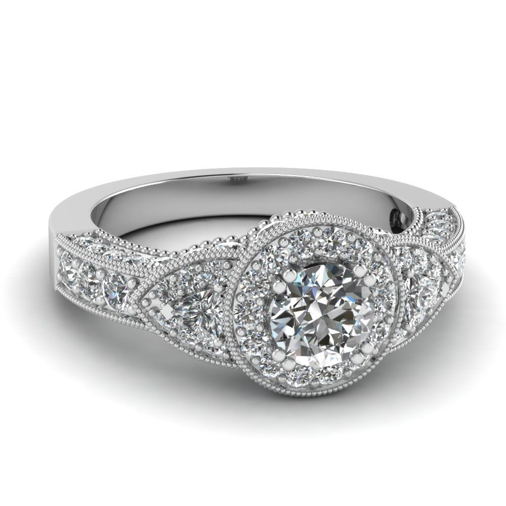 halo palladium rings cluster ring baguette round diamond engagement image with jewellery brilliant