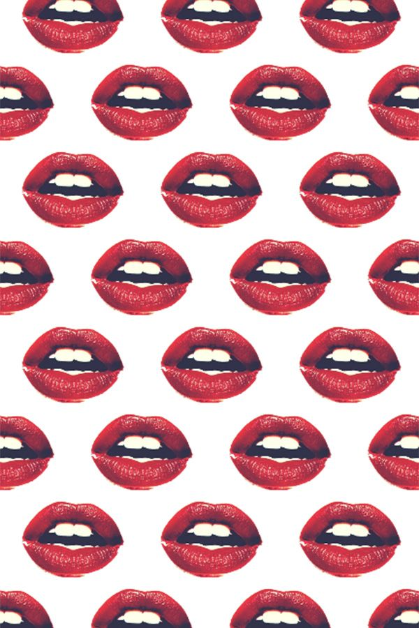 Colorful Fabrics Digitally Printed By Spoonflower Red Lips