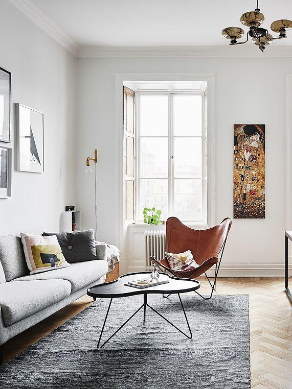 Butterfly Chair On Fishbone Flooring Diseno Interiores Casas