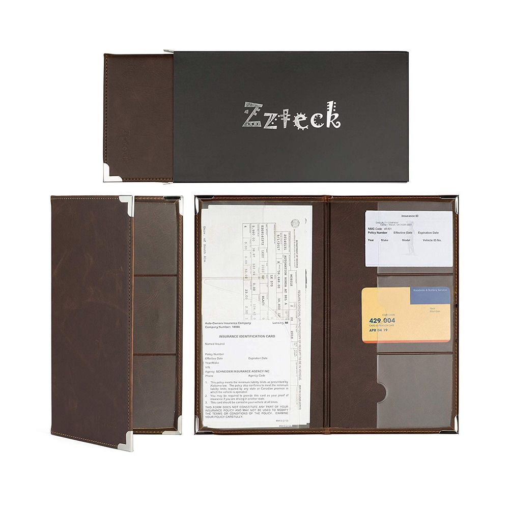 Zzteck Car Registration Holder For Insurance Card Documents Auto