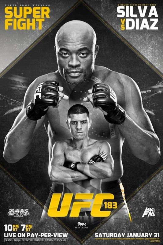 UFC 183: Post-Fight Press Conference | Ufc poster, Ufc, Fight