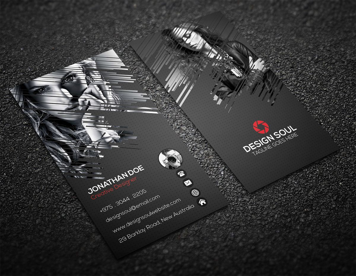 Vertical Photography Business Card Design | Photography ...