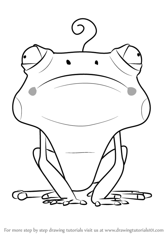 Learn How To Draw Frog From Larva Larva Step By Step Drawing Tutorials Cartoon Coloring Pages Drawings Larvae