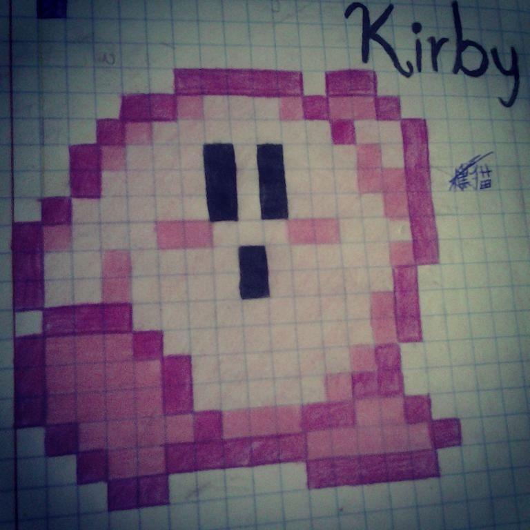 On instagram by chokyjefe.72  #8bits #microhobbit (o)  http://ift.tt/1JugDsd  #kirbysuperstar  #dibujo