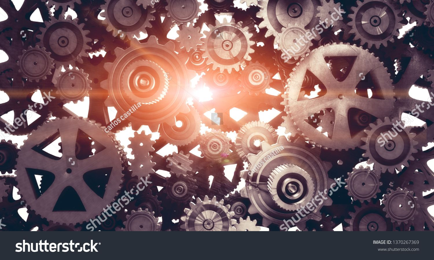 Industrial And Mechanical Background  Engine And