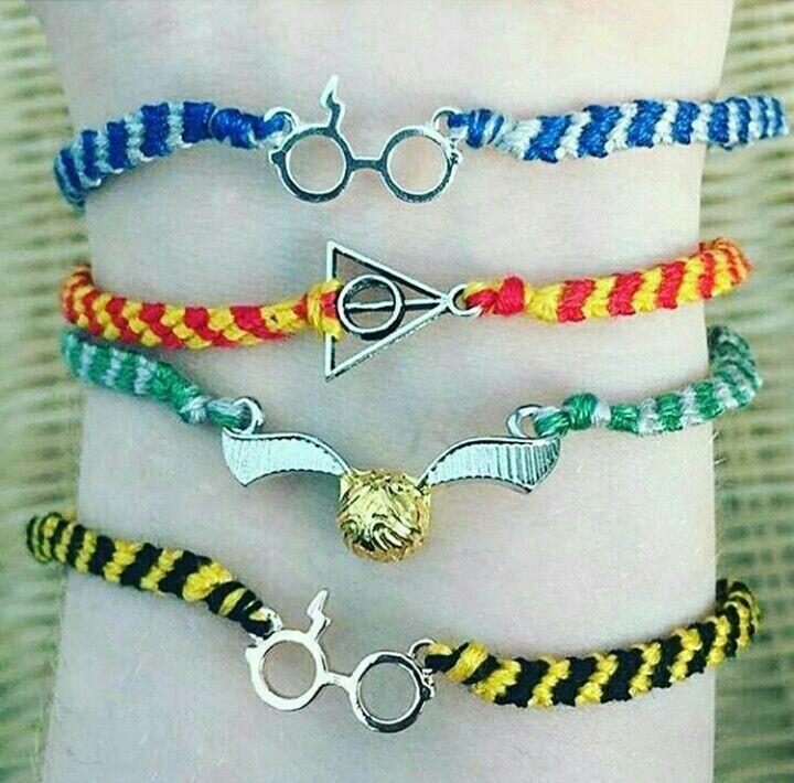 Harry Potter Accesories Harrypotter Pulsera De Harry Potter Pulseras Tejidas Manualidades