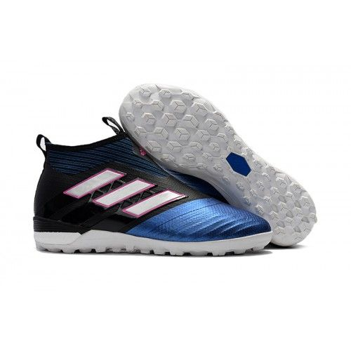 new product f36d0 f8e66 Botas Futbol Sala Adidas ACE Tango 17+ Purecontrol Turf Negro Azul Blanco  Rosa Hombre