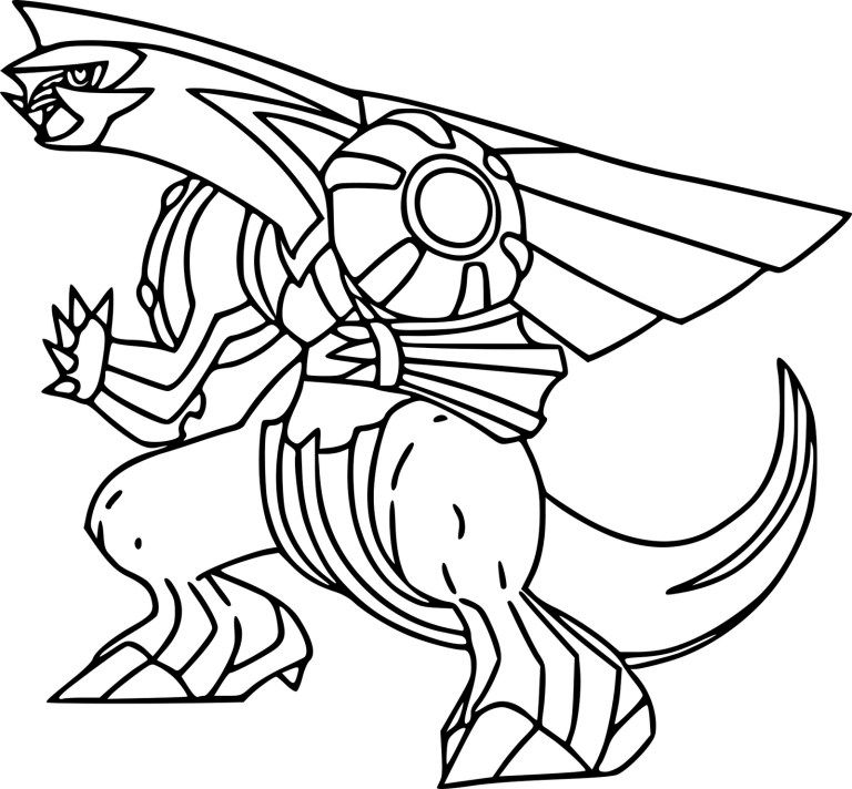 Dragon Palkia Pokemon Coloring Sheet Pokemon Coloring Pages Pokemon Coloring Sheets Pikachu Coloring Page