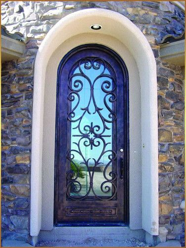 Beautiful Arched Front Door Oklahoma City House Ideas