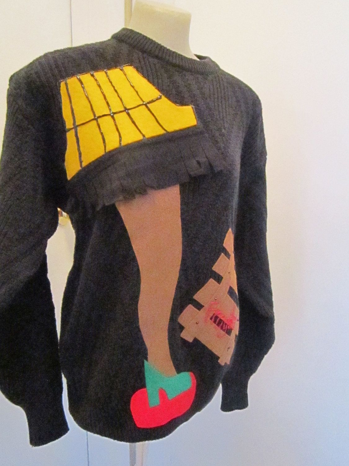 Leg Lamp Ugly Christmas Sweater UGLY Sweater Party Winner Ugly Jumper Large  To Xlarge Chest 46